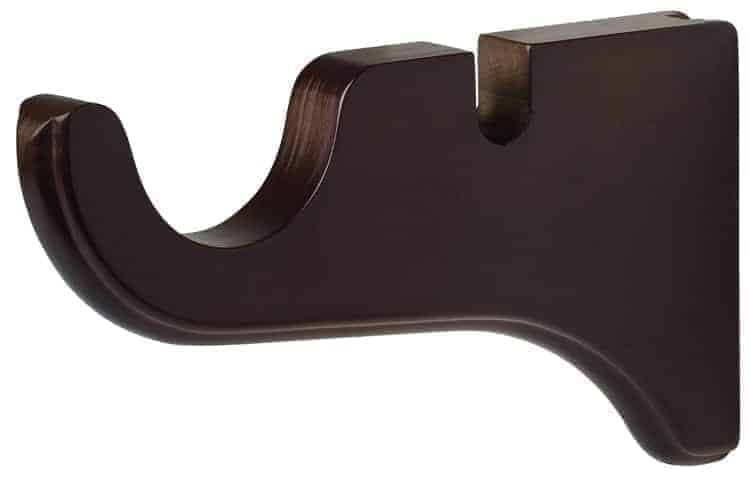 curtain rod and pole bracket mahogany