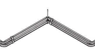 Corner Window double Rods