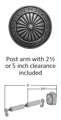 """Post arm for 3"""" holdback"""