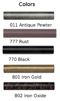 Wrought iron curtain rod colors