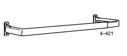 Graber Single standard curtain rods 18-120 in.