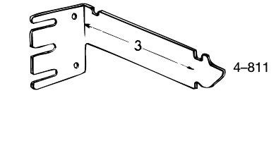 """3"""" Extention bracket for curtain rods"""