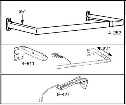 Single Lock–Seam Curtain Rods