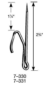 """2 3/4"""" Long Drapery Pin"""