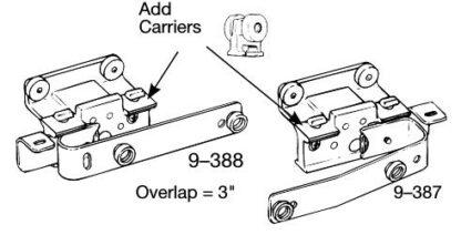 Left and Right Master Carrier for Slimline