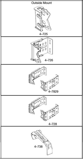 """Brackets and Supports for 2 1⁄2"""" Dauphine® Rods"""